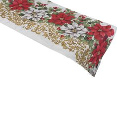 This festive floral poinsettia design table runner by Manita would make the perfect finishing touch for your dining room table during Christmas time.