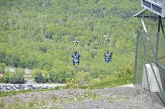 The Zip-Flyer at Camelback Mountain Adventures sends guests on an adventure packed journey soaring above the Pocono Mountains. #MyCamelback