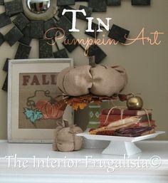 Tin Pumpkin Art