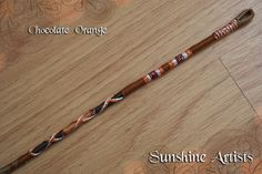 Chocolate Orange hair wrap, hair braid, hair extension - light & dark brown shades, khaki, orange, glittery silver - with loop or weft clip by SunshineArtists on Etsy