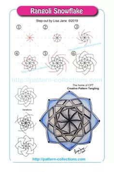 Creative Pattern Tangling is all about improving your art. Doodle Art Designs, Doodle Patterns, Zentangle Patterns, Doodle Borders, Zentangle Drawings, Doodles Zentangles, Doodle Drawings, Tangle Doodle, Tangle Art