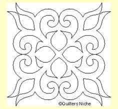 Diseño Free Motion Quilting, Hand Quilting, Machine Quilting, Machine Embroidery, Quilting Stencils, Quilting Templates, Quilting Designs, Tile Patterns, Pattern Art
