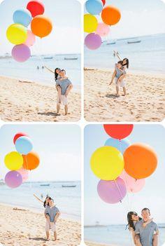 Great idea for a pre-wedding photo shoot - balloons! Pre Wedding Poses, Pre Wedding Photoshoot, Wedding Shoot, Prenup Photos Ideas, Prenup Ideas Outfits, Photo Ideas, Couple Outfits, Outfit Ideas, Prenup Theme