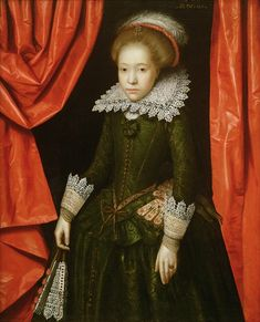 Portrait of a girl of the de Ligne family, 1616 Gheeraerts, Marcus Mode Renaissance, Renaissance Fashion, Historical Costume, Historical Clothing, Isabel I, 17th Century Fashion, 16th Century, Jacobean, Glamour