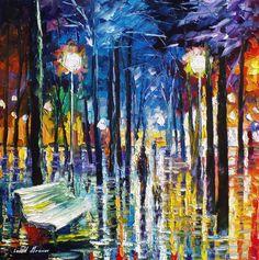 Leonid Afremov -  LITTLE STEPS -  Oil painting on canvas by leonid afremov, oil painting on canvas