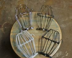 Vintage Industrial Decor Wire Bulb Cage, Clamp On Lamp Guard, Vintage Industrial Trouble Lights, Pendants - Vintage Industrial Lighting, Industrial Light Fixtures, Industrial Shelving, Home Decor Lights, Diy Home Decor, Ceiling Fan Makeover, Chandelier Makeover, Vintage Home Decor, Vintage Diy