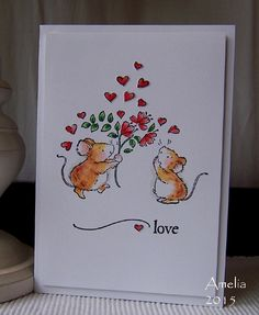 CAS Valentine's card by Amelia (Stamped for the Occasion)