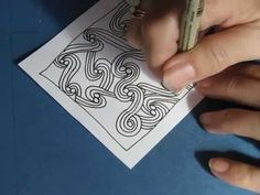 Doubleswirls -  daily tangle - YouTube
