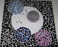 Mozaiek, wandpaneel, keramiek, spiegel