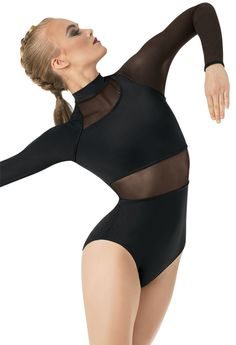 Long-Sleeve Powermesh Leotard | Balera Mais