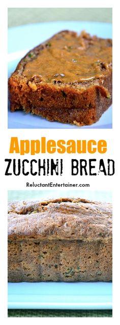 Applesauce Zucchini Bread | ReluctantEntertainer.com
