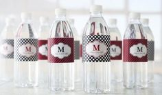 Water Bottle Labels: Create your own water bottle labels for your next party or function with these free templates. Use the transparent template if you would like to add a