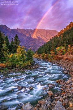 ~~Divine Intervention  | rainbow landscape, spectacular sunrise this morning captured just outside Leavenworth, Washington | by Aaron Reed~~