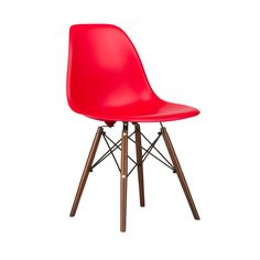 Walnut Slope Chair in Red | dotandbo.com
