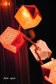 valentine origami box lighted garland 3.