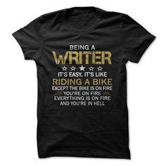 Writer Cool Tshirt Love Writer T Shirt Design