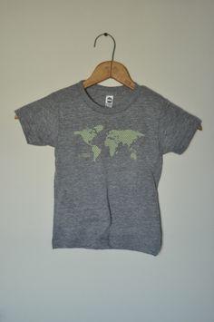 """Get You Here"" World Map Kids T-Shirt"