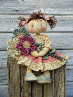 May's Flowers Doll