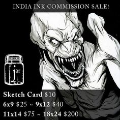Help a stay at home dad and a mom still on unpaid maternity leave by getting a commission! Just message me!  #indiaInk #ink #instaart #comicart #horror #commissionart #art #illustration #pumpkinhead #inking #l4l #likelike #like4like