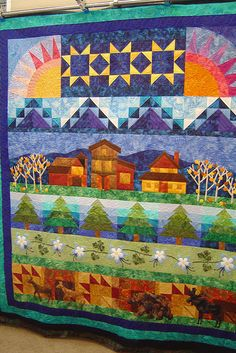 by Jessica's Quilting Studio, via Flickr- not from the NYS Row by Row, but what a beautiful quilt-and some of the rows are similar to the NYSRBR quilt