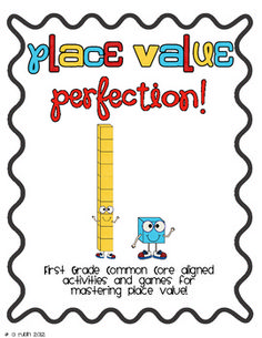 This includes 10 activities/games that align to the First Grade Common Core Math Standards for place value! $6.00