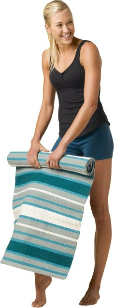 At REI Outlet: prAna Ashram Yoga Rug — Use it alone or on top of your yoga mat for sure footing.