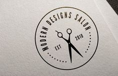 Modern Designs Salon Logo Design & Branding - We helped Modern Designs Salon in Suffield, CT with their new logo for View the project Beauty Salon Logo, Hair And Beauty Salon, Schönheitssalon Logo, Hairdresser Logo, Barber Logo, Barber Shop, Hair Salon Logos, Monogram Maker, Hair Salon Interior