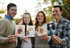 Favorites: Siblings Grown up siblings photography with baby pictures! Great gift for mom! :)Grown up siblings photography with baby pictures! Great gift for mom! Sibling Christmas Pictures, Adult Family Photos, Large Family Photos, Family Picture Poses, Family Posing, Christmas Photos, Family Portraits, Adult Sibling Photography, Sister Photography