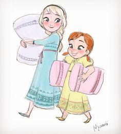 #frozen #elsa #anna #disney #sketch #drawing #ipadpro #applepencil #procreate