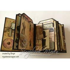 Scrapbook Maven Kit using Marion Smith Garment District featured by My Sister's Scrapper in her own mini album