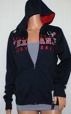 NEW NFL Team Apparel Blue Houston Texans Front Zip Hoodie Women's Small S #NFLteamapparel #Hoodie