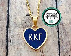 Kappa Kappa Gamma Enamel Heart Necklace