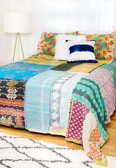 Kantha Quilt - Queen Bedding Set - CQ89