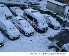 La neige sourit alors sourions, elle finira bien par partir...