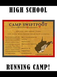 High School run in camp!