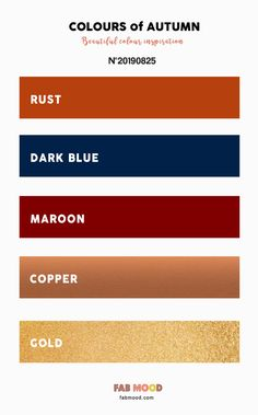 Autumn Color 2019 { Copper   Rust   Maroon   Dark Blue   Gold } #color #autumn #fall #wedding #colorinspiration