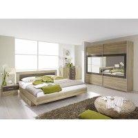 Schlafzimmer Mit Bett 180 X 200 Cm Eiche Sonoma/ Lavagrau Woody 33 00842