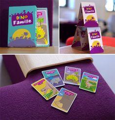 Création d'un jeux des sept familles de A à Z en illustration sur le thème des dinosaures.