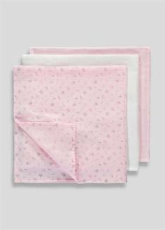 Unisex 3 Pack Muslin Cloths (One Size)