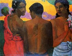 Three Tahitians, 1899 - Paul Gauguin - WikiArt.org