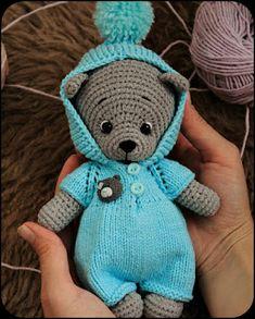 Simon of Weaves: Mini Bear Free Pattern : Simon of Weaves: Mini Bear Free Pattern Crochet Teddy Bear Pattern, Crochet Baby Toys, Crochet Doll Pattern, Crochet Toys Patterns, Cute Crochet, Crochet Dolls, Crochet For Kids, Doll Patterns, Animal Knitting Patterns