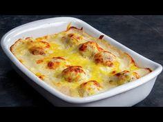 Erstaunlich einfaches und leckeres Rezept! Mit Fleisch gefüllte Eier  Schmackhaft.tv - YouTube Youtube Cooking, Cake Factory, Carne Picada, Cheeseburger Chowder, Mashed Potatoes, Cauliflower, Soup, Beef, Snacks