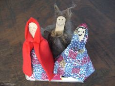 With popsticks, egg cartons and scraps of fabric and wool make your own Little Red Riding Hood, Grandma and the Big Bad Wolf, for the children to 'act out' the story as you read.
