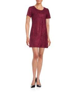 <ul> <li>Short sleeved faux suede dress with lace-up details</li> <li>Round neckline</li> <li>Short sleeves</li> <li>Back zip</li> <li>About from shoulder to hem</li> <li>Polyester/spandex</li> <li>Hand wash</li> <li>Imported</li> </ul> Design Lab, Burgundy Dress, Lord & Taylor, Clothing Items, Short Sleeve Dresses, Short Sleeves, Lace Dress, Dresses For Work, Lace Up