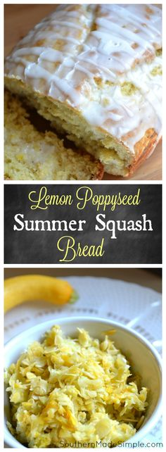 Looking for a new way to use up all of that fresh summer squash? You've GOT to try this Glazed Lemon Poppy Seed Summer Squash Bread recipe! It's delicious and a fantastic way to sneak in veggies for those picky eaters!