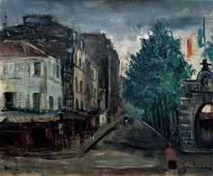 Rue Brancion, Yuzo Saeki 1925, 佐伯祐三, Nika 100th