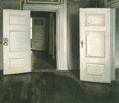 Vilhelm Hammershoi (15 May 1864 – 13 February 1916), was a Danish painter. He is known for his poetic, low-key portraits and interiors. (Wikipedia) #danish_art