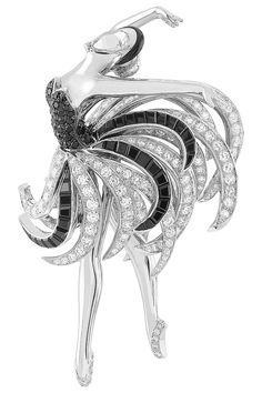 Van Cleef & Arpels Ballerina Swan Lake clip, Swan Lake ballet, Ballet Précieux collection