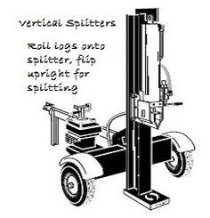 Vertical Log Splitter Operation