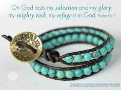 """These bracelets are being made by women who are being rescued from sex-trafficking, through Fashion & Compassion, a ministry we've partnered with. When you buy a bracelet, you get the name of the """"rescued"""" woman who made it. You can pray for her specifically as you wear this beautiful reminder that small gifts matched with your prayers make a big difference. Click the photo to find out more & purchase your bracelet! http://www.p31bookstore.com/products/refuge-bracelet"""